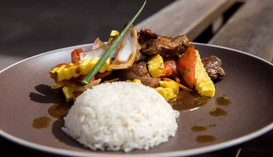 Lomo Saltado --one of our favorite traditional Peruvian dishes