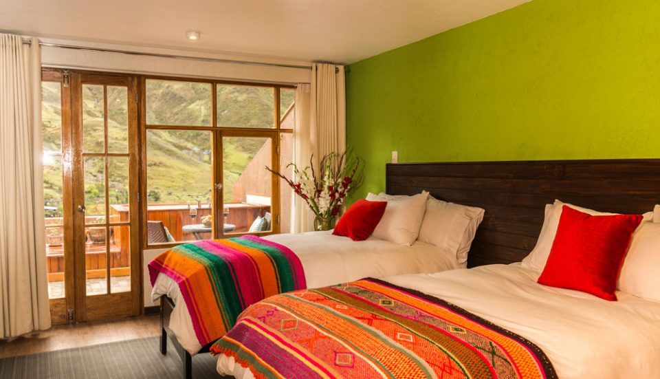 Spectacular views from our double guest rooms at the Huacahuasi Lodge